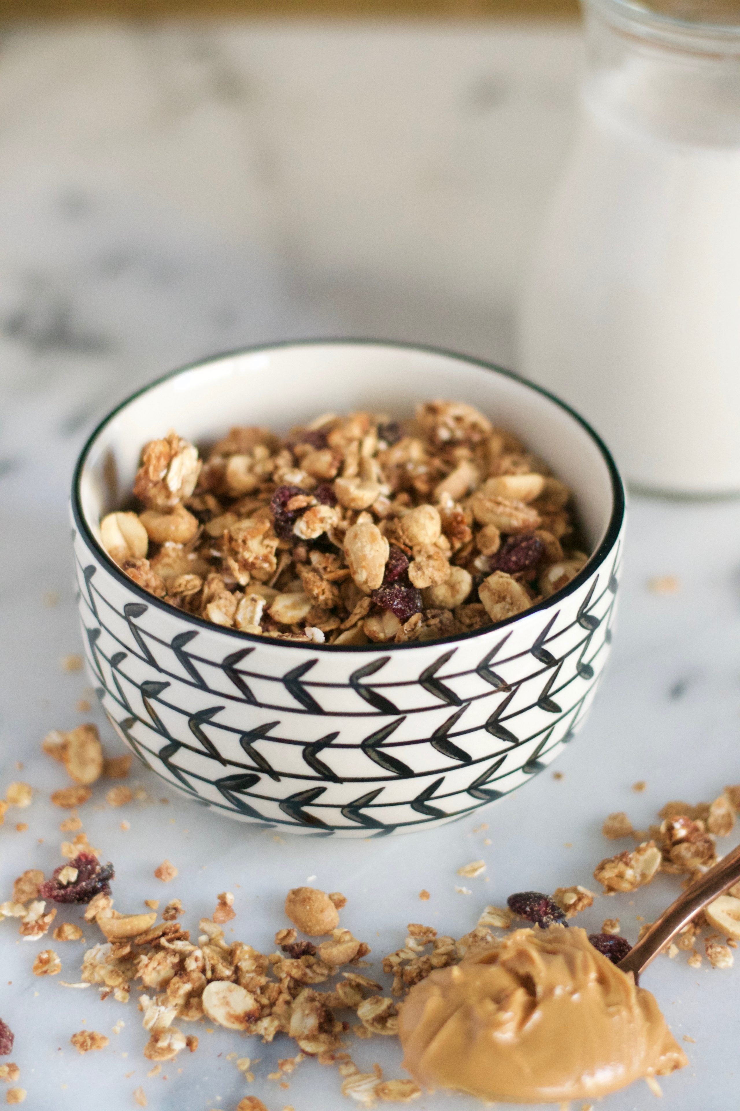 Peanut Butter and Jelly Granola (GF, DF, V) - A Dash of Megnut