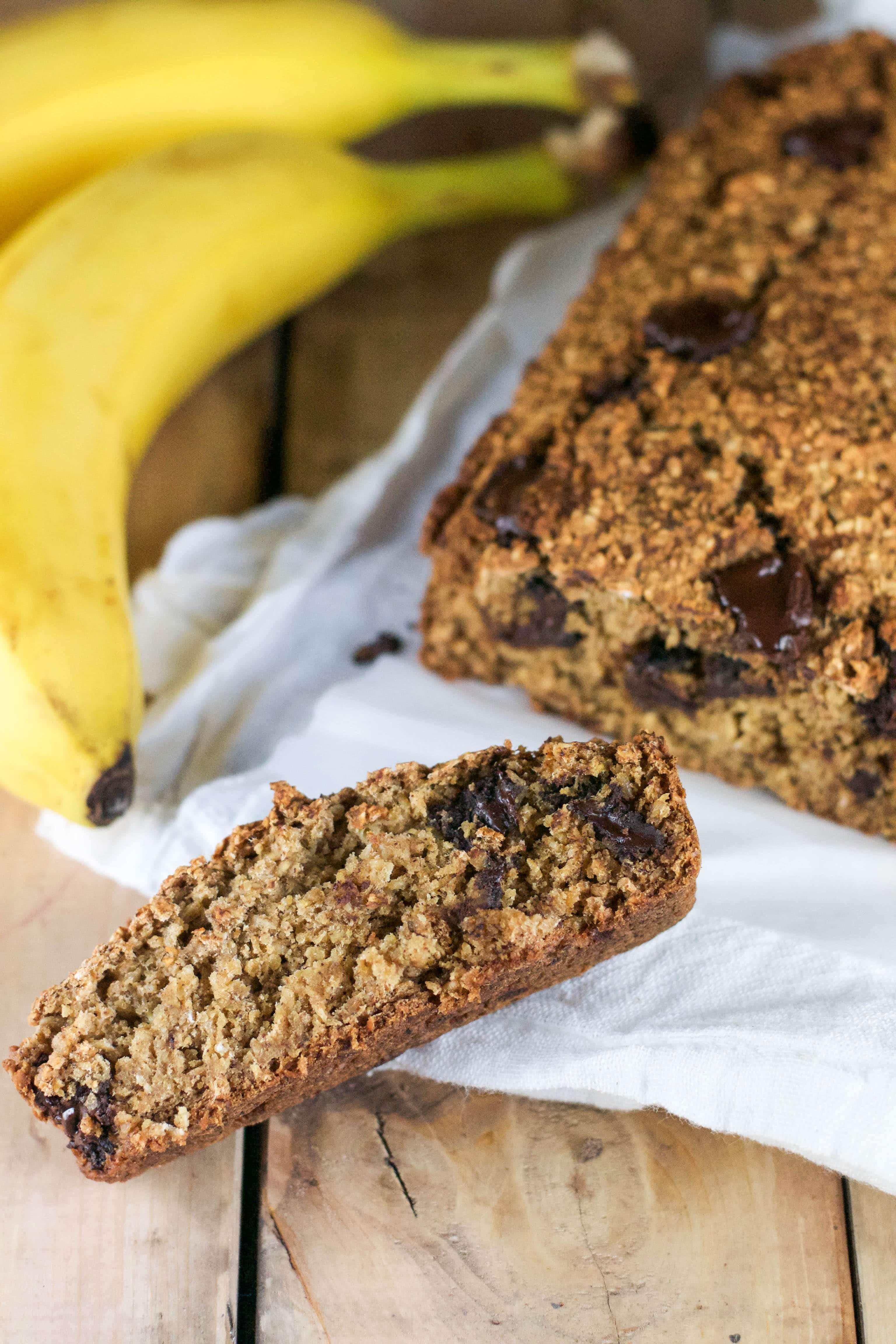 Vegan Chocolate Chunk Banana Bread (GF, DF, V, RSF) - A Dash of Megnut
