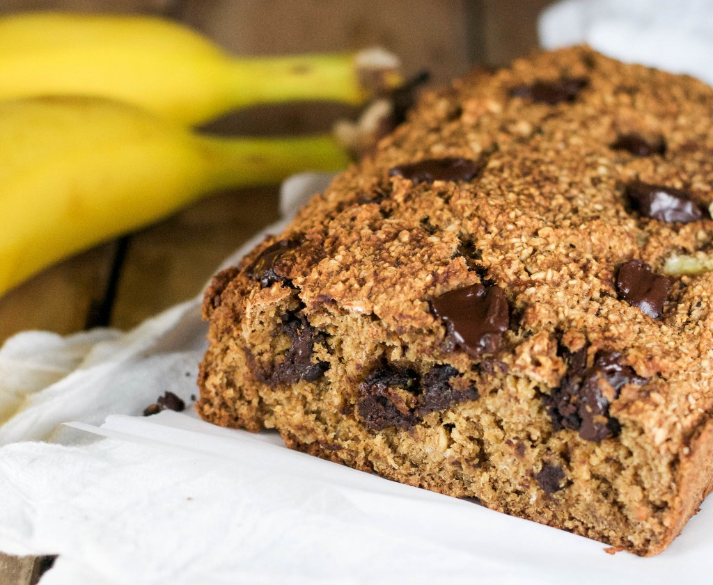 Vegan Chocolate Chunk Banana Bread (GF, DF, V, RSF) - A Dash of Megnut