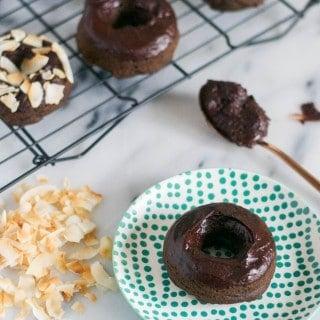 Baked Vegan Chocolate Donuts (GF, DF, V, RSF) - A Dash of Megnut