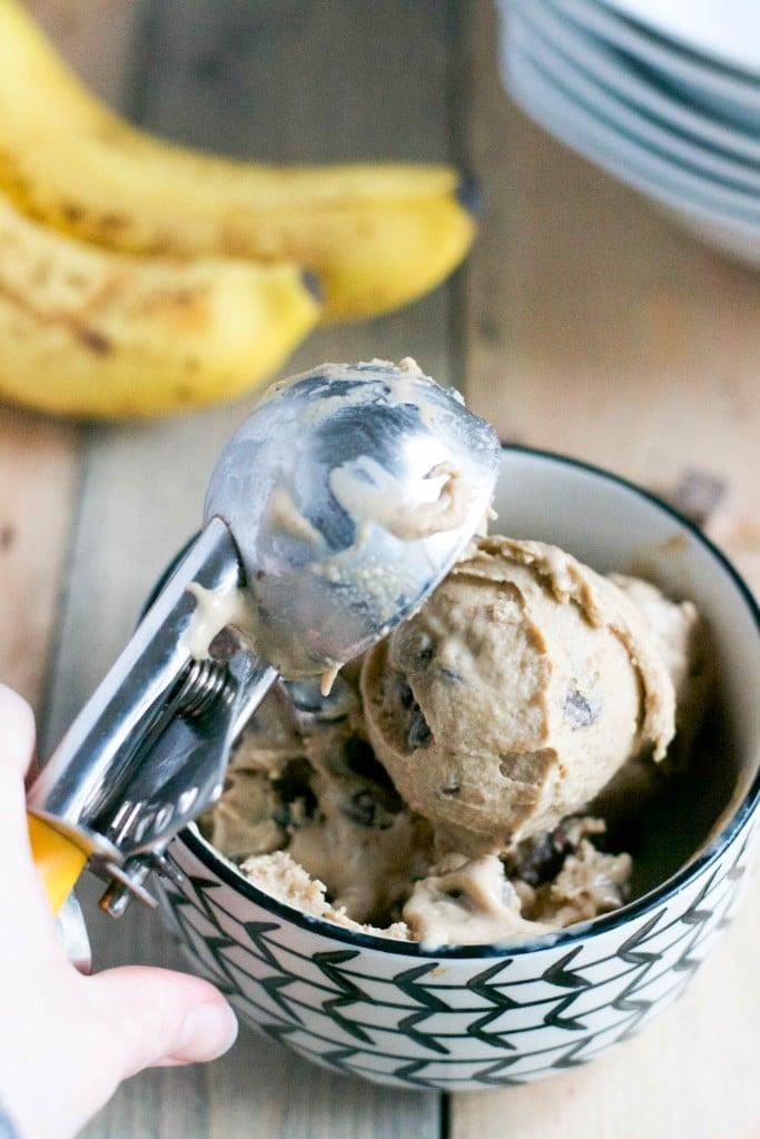 Vegan Banana Chocolate Chunk Ice Cream (GF, DF, V, SF) - A Dash of Megnut