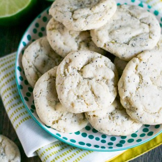 Gluten-Free Vegan Lime Poppyseed Cookies (GF, DF, V) - A Dash of Megnut