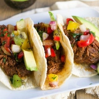 Crockpot Shredded Beef Tacos (GF, DF) - A Dash of Megnut
