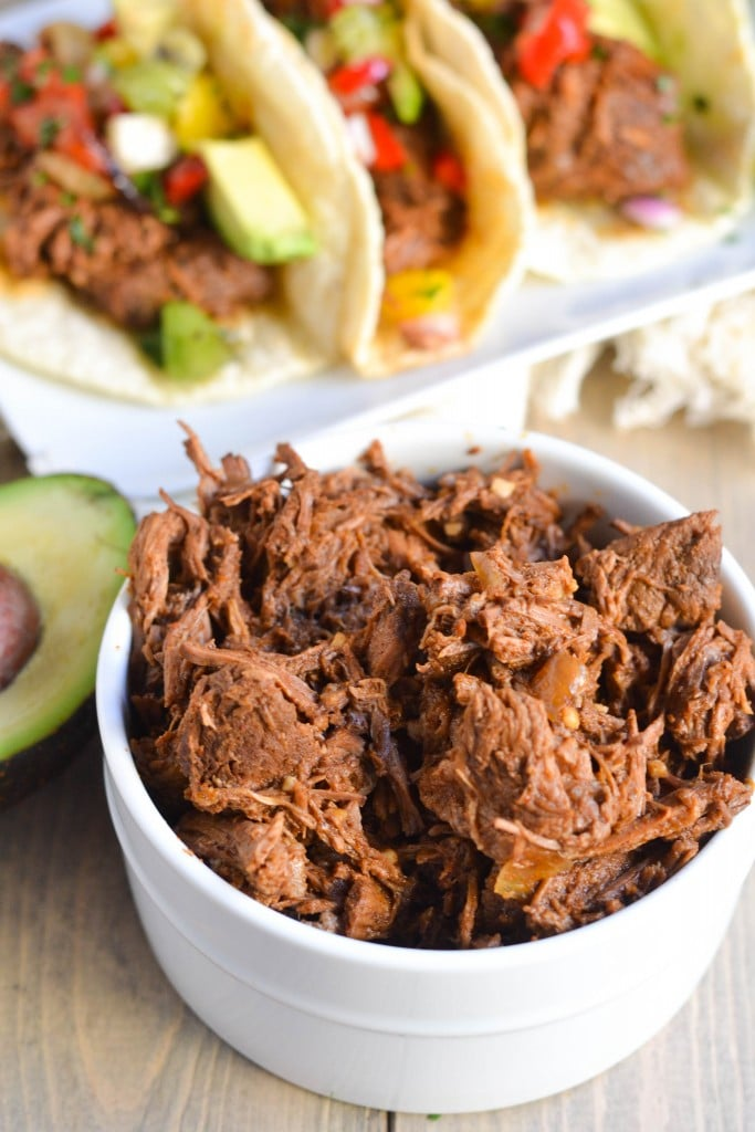 Crock Pot Shredded Beef Tacos (GF, DF) - A Dash of Megnut