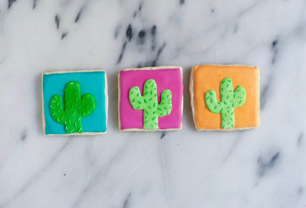 Gluten-Free Cactus Sugar Cookies - A Dash of Megnut