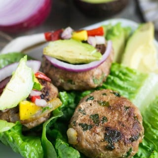 Spinach Garlic Turkey Burgers