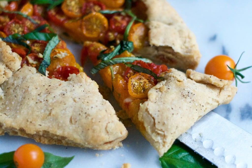 Gluten-Free Vegan Tomato Basil Galette (GF, DF, V) - A Dash of Megnut