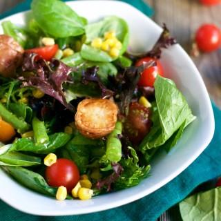 Farmer's Market Vegetable Salad (GF, DF, Veg) - A Dash of Megnut