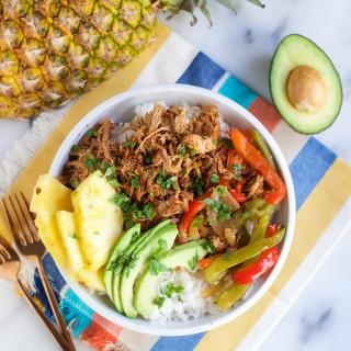 Crock Pot Pineapple Pork Burrito Bowls (GF, DF) - A Dash of Megnut