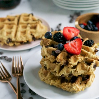 Gluten-Free Vegan Sparkling Water Waffles