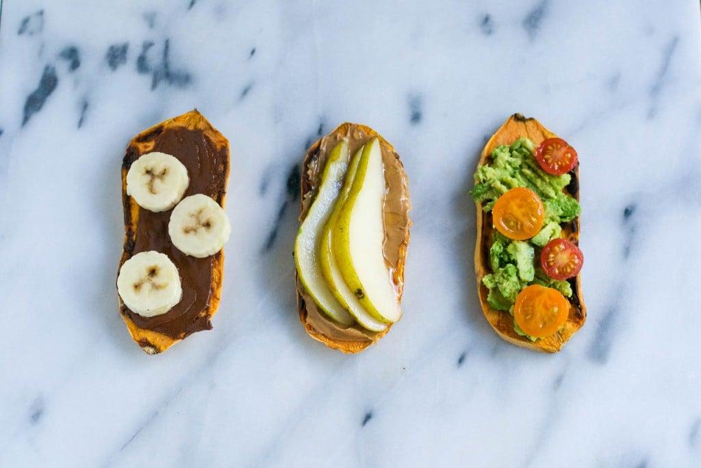 Sweet Potato Toast 3 Ways (Gluten-free, dairy-free, vegan) - A Dash of Megnut