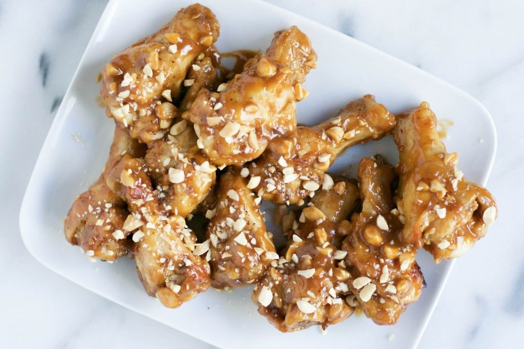 Peanut Butter Chicken Wings (GF, DF) - A Dash of Megnut