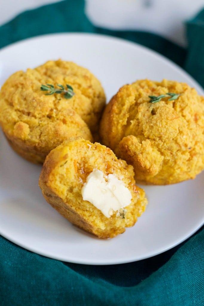 Gluten-Free Vegan Sweet Potato Cornbread Muffins (GF, DF, V, RSF) - A Dash of Megnut