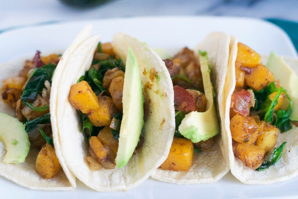 Bacon Butternut Squash Tacos (GF, DF) - A Dash of Megnut