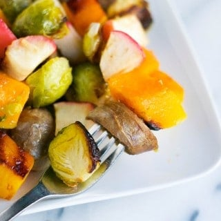 Roasted Chicken Sausage, Butternut Squash and Apples