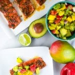 Honey Glazed Salmon with Avocado Mango Salsa (GF, DF) - A Dash of Megnut