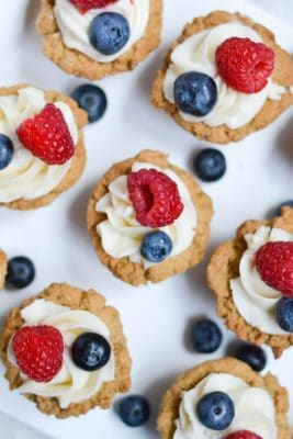 Vegan Red, White and Blue Cookie Cups - (GF, DF, V) - A Dash of Megnut
