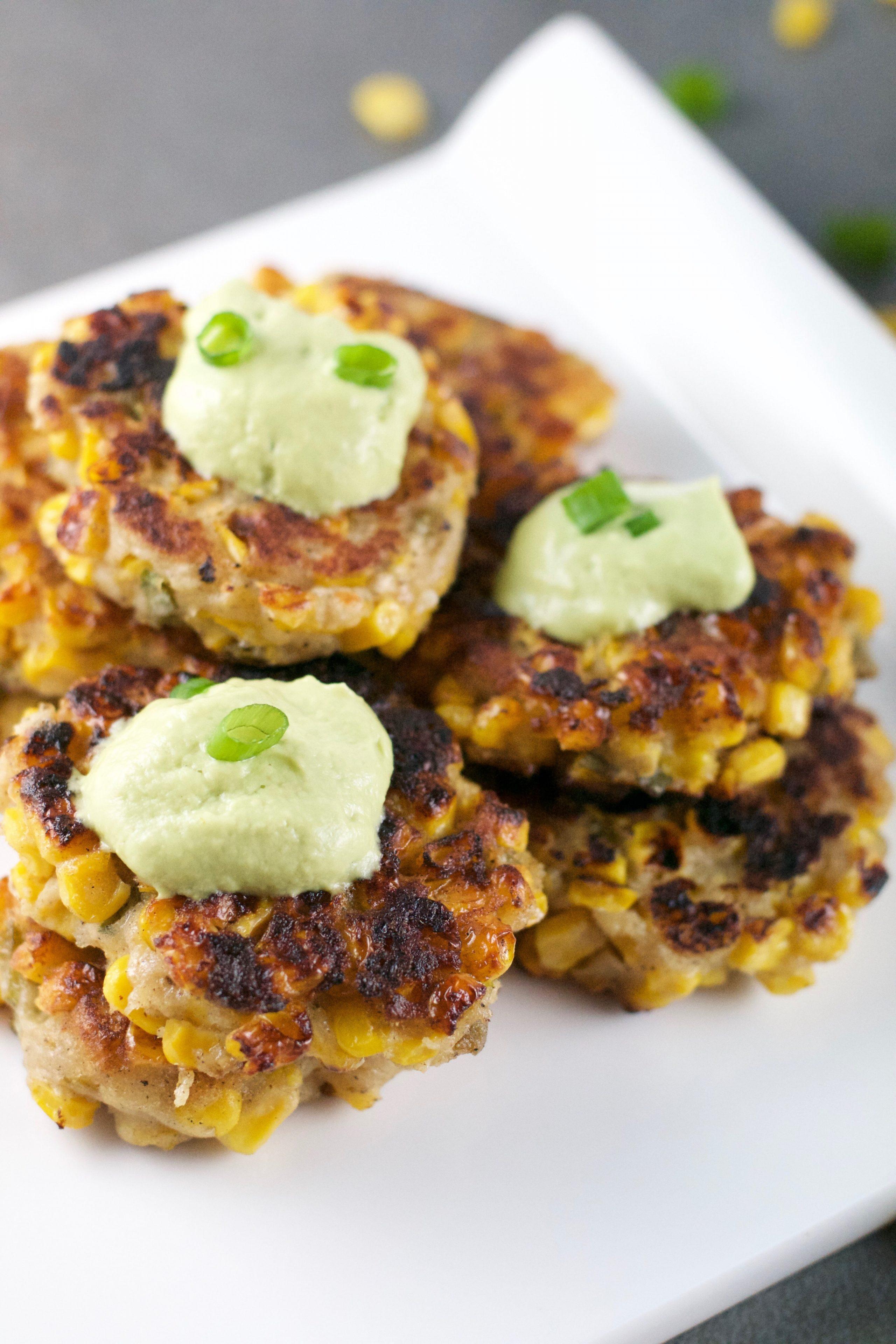 Corn Jalapeno Fritters (GF, DF, V) - A Dash of Megnut