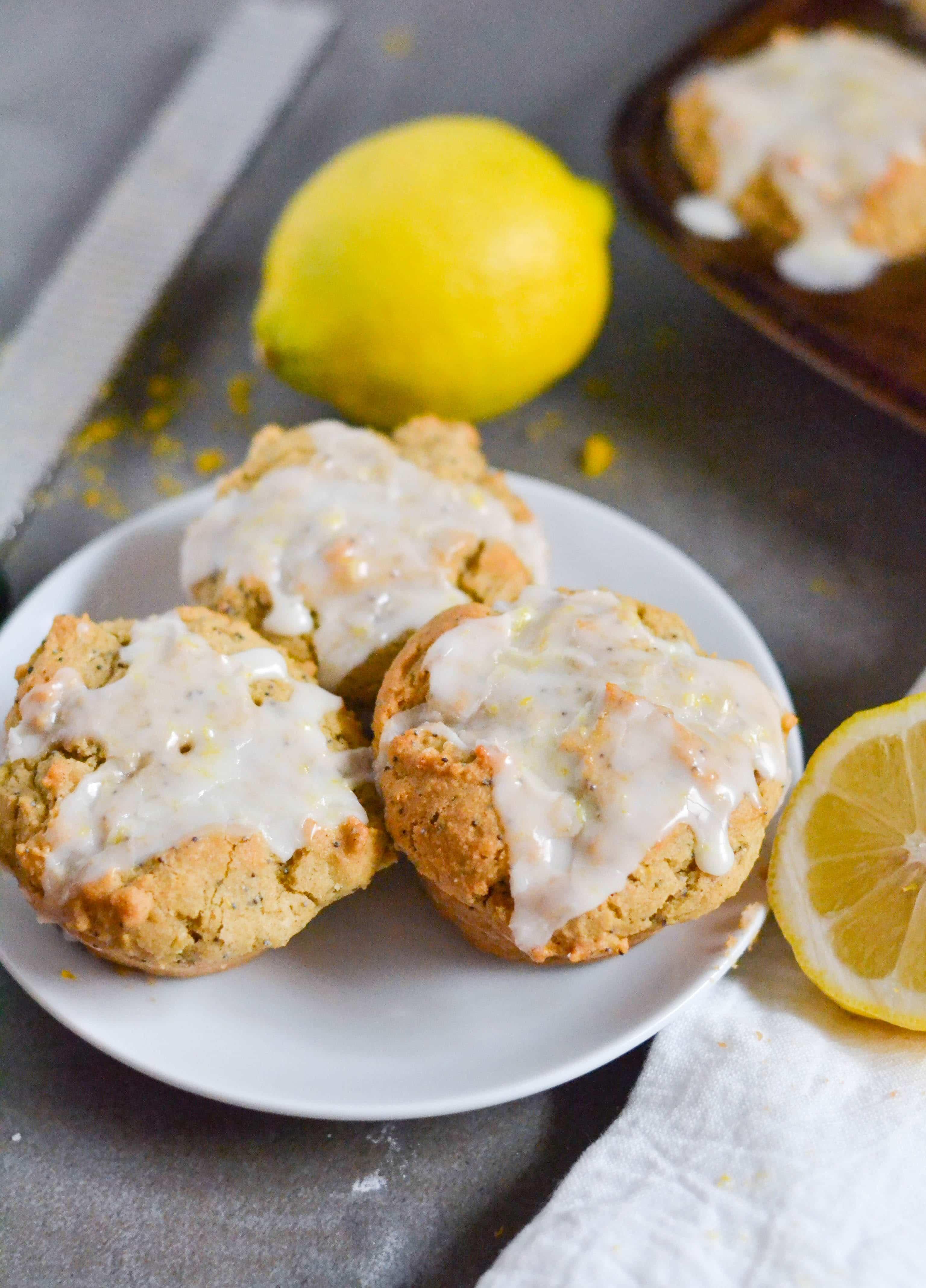 Gluten-Free Vegan Lemon Poppyseed Muffins (GF, DF, V) - A Dash of Megnut