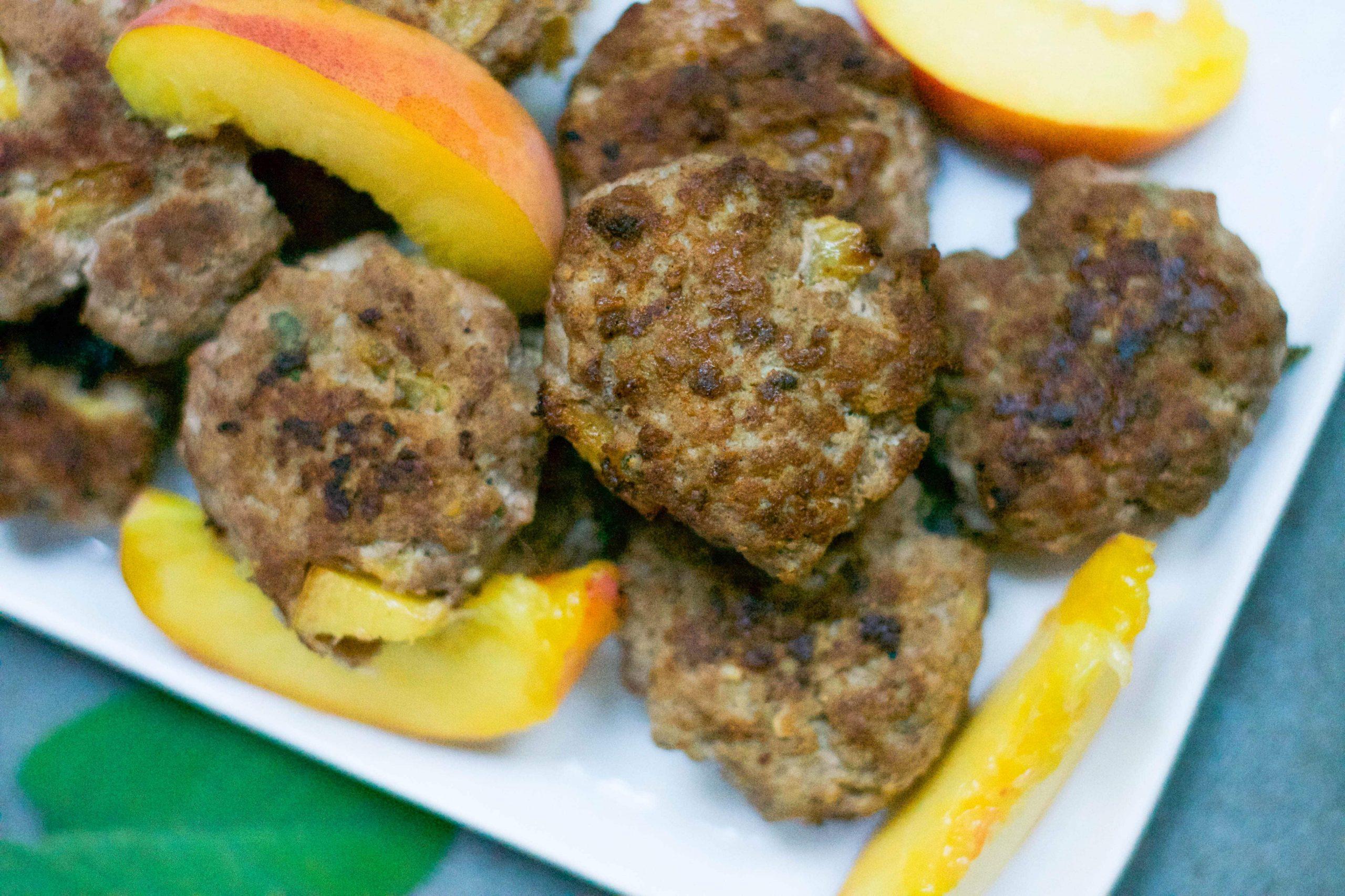 Peach Turkey Breakfast Sausage (GF, DF) - A Dash of Megnut
