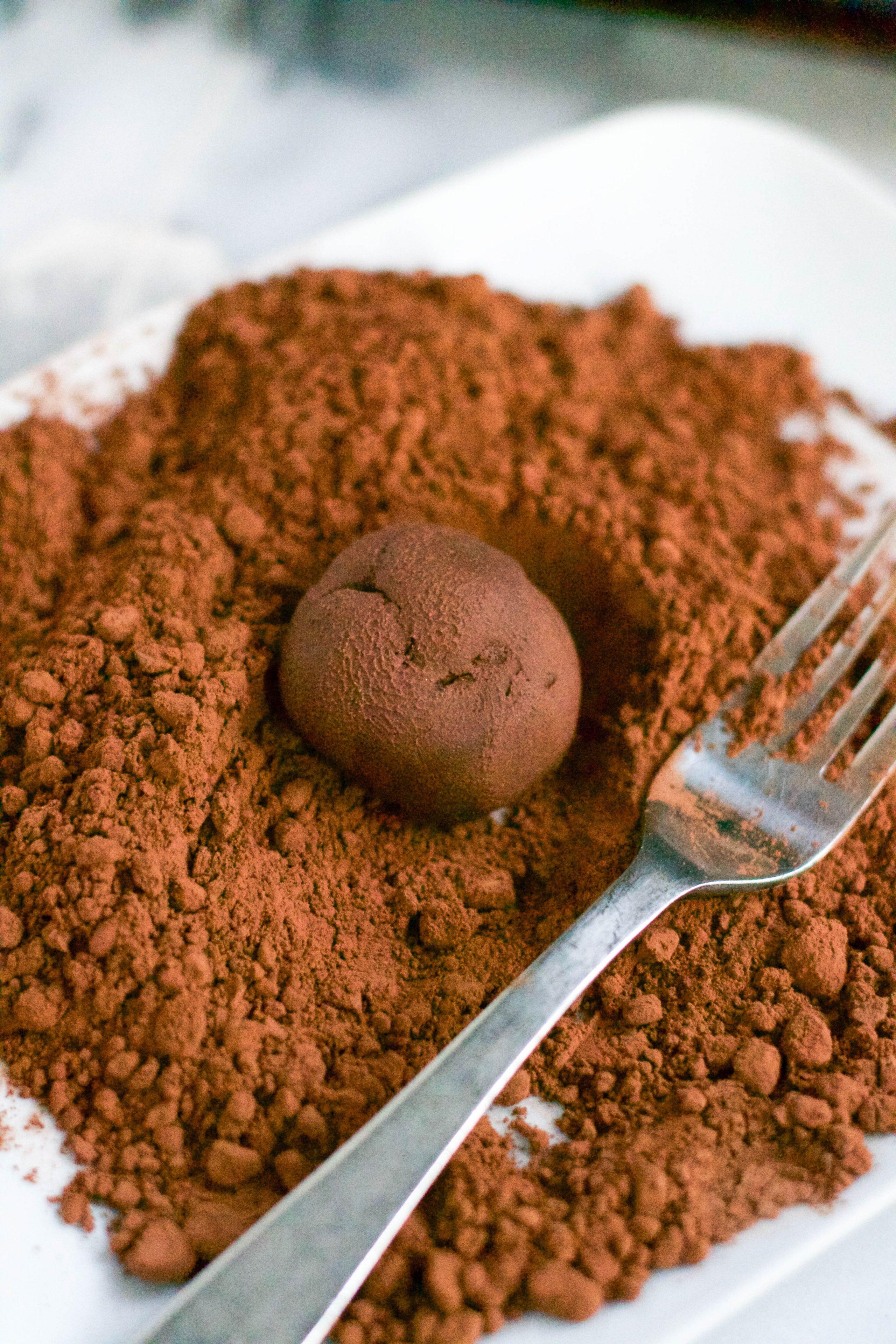 Vegan Earl Grey Chocolate Truffles (GF, DF, V) - A Dash of Megnut