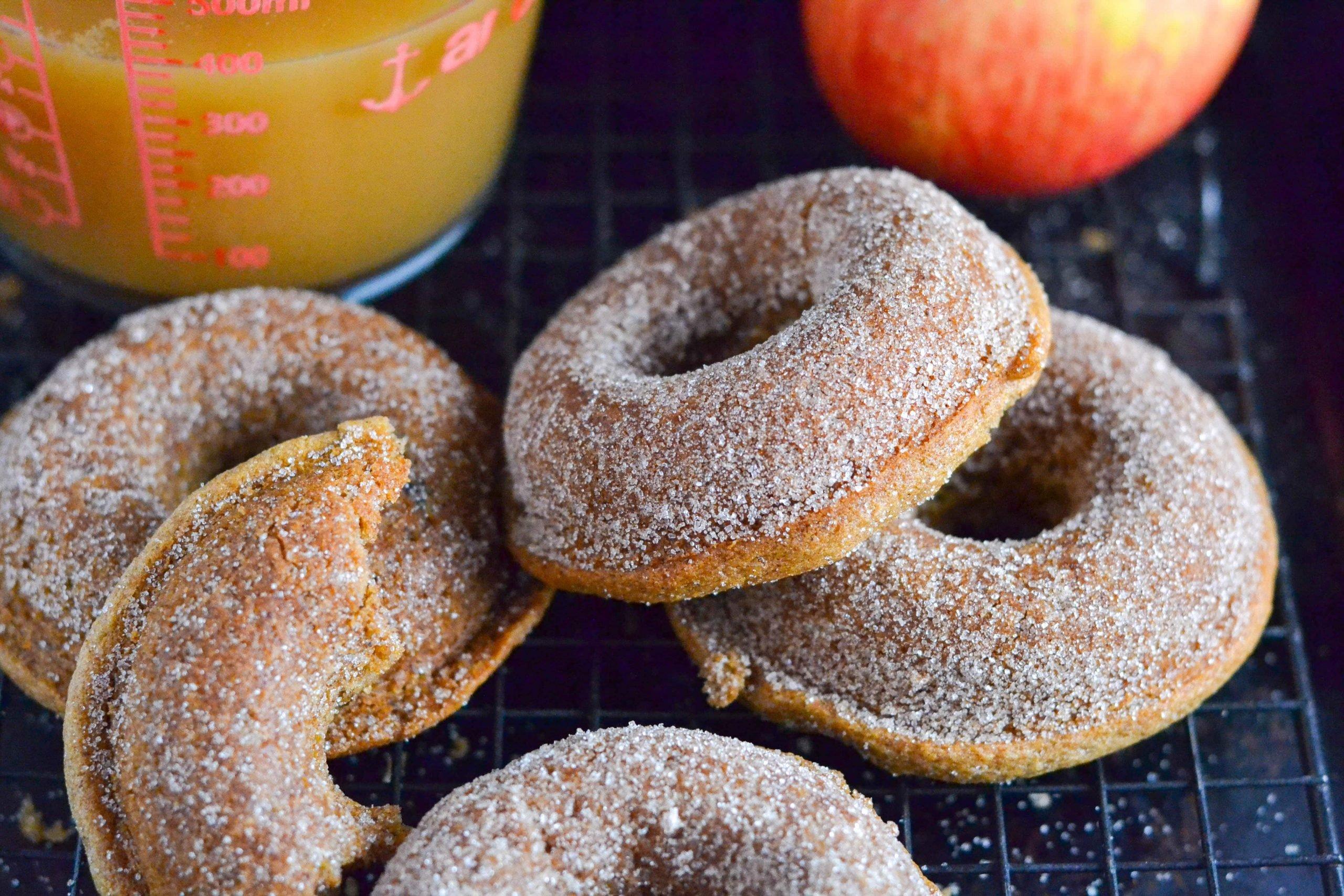 Gluten-Free Vegan Apple Cider Donuts (GF, DF, V) - A Dash of Megnut