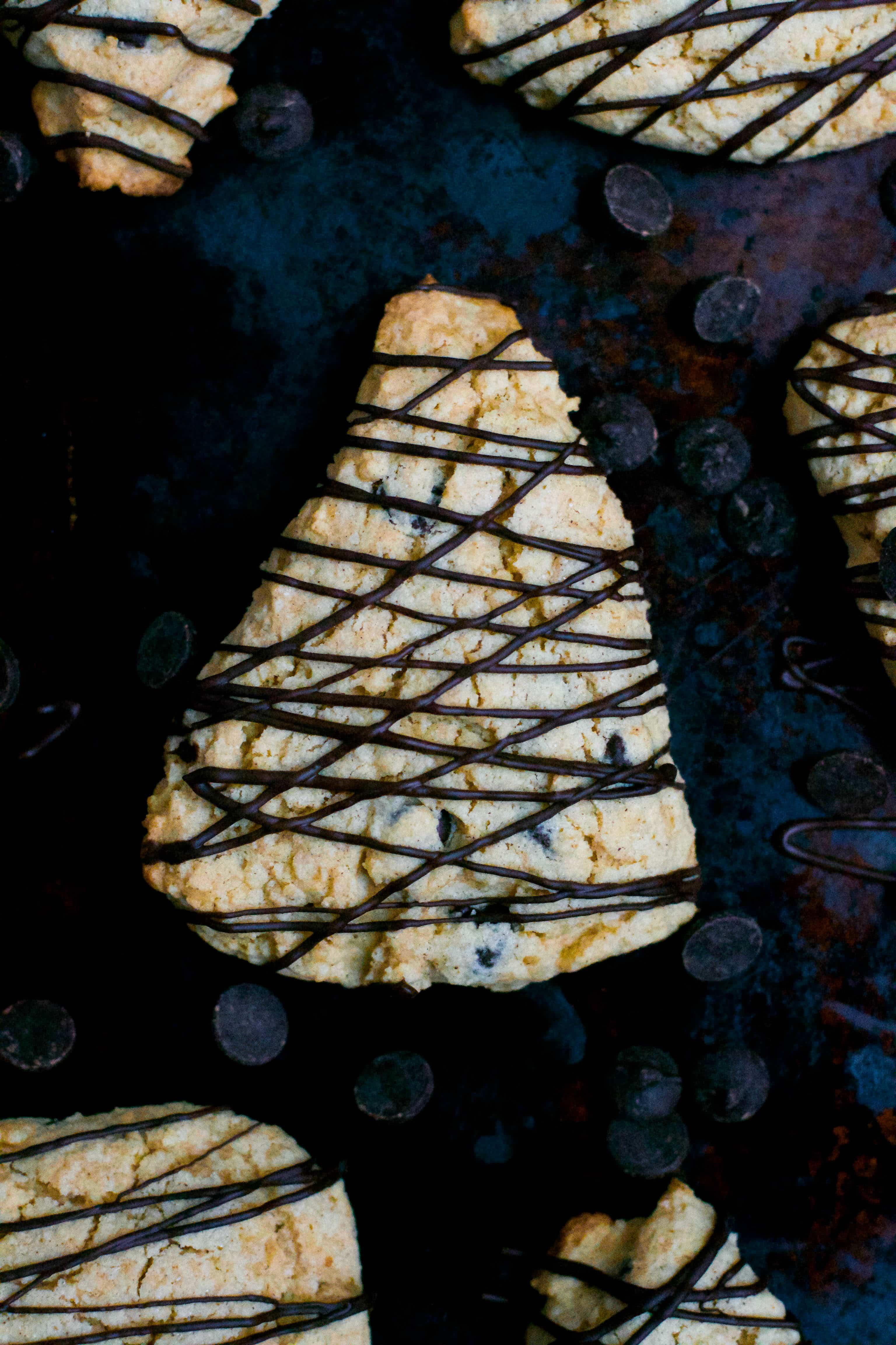 Gluten-Free Vegan Chocolate Chip Scones (GF, DF, V) - A Dash of Megnut