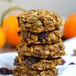 Pumpkin Breakfast Cookies (GF, DF, V) - A Dash of Megnut