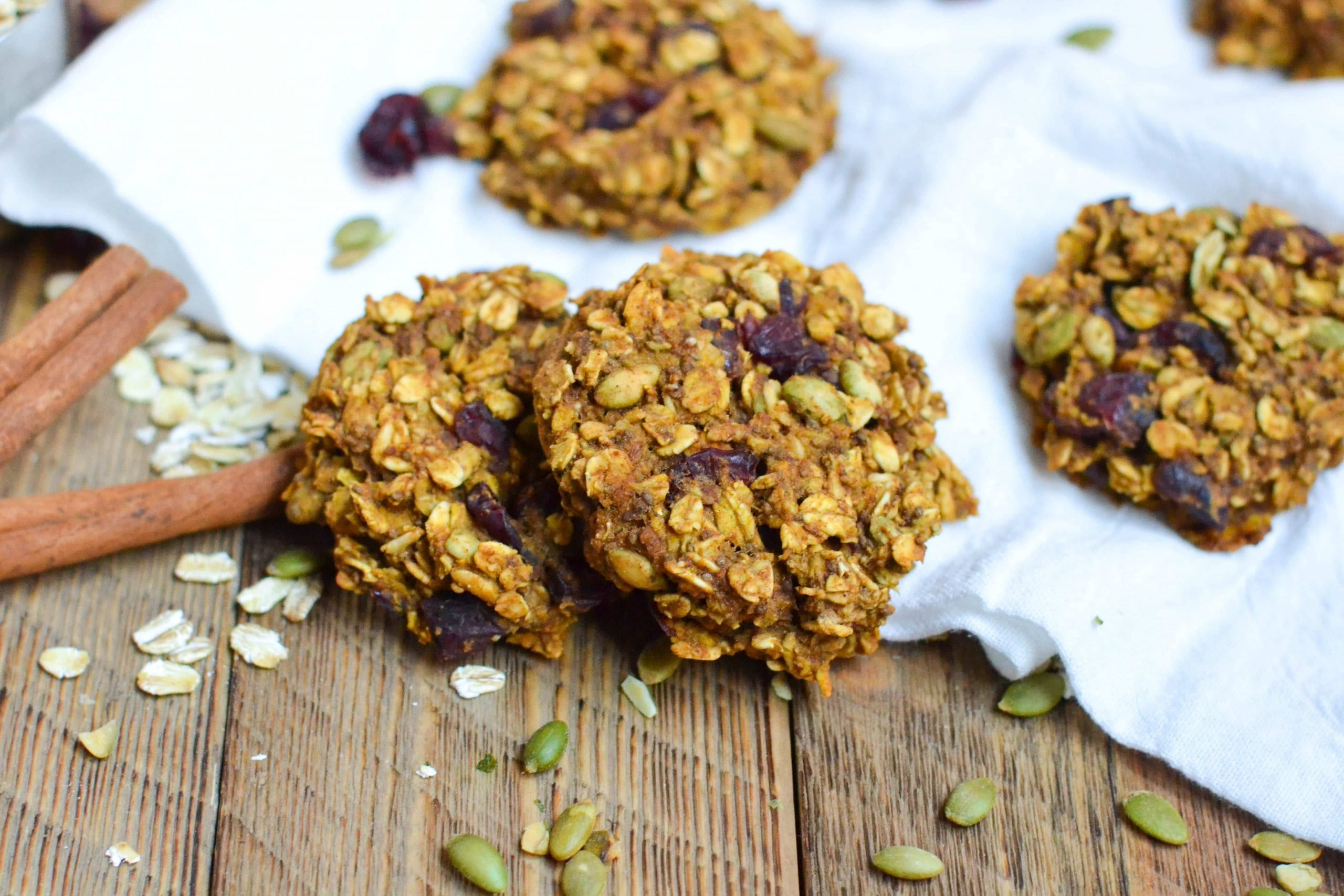 Pumpkin Breakfast Cookies (GF, DF, V) - A Dash of Megnut