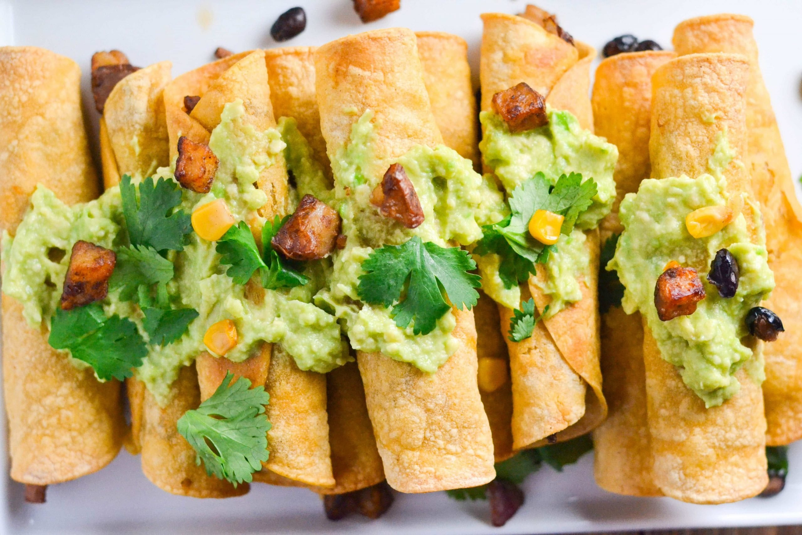 Red Potato and Black Bean Taquitos (GF, DF, V) - A Dash of Megnut