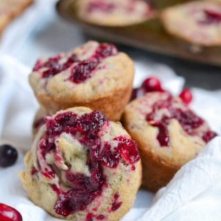 Gluten-Free Vegan Banana Cranberry Jam Muffin (GF, DF, V) - A Dash of Megnut
