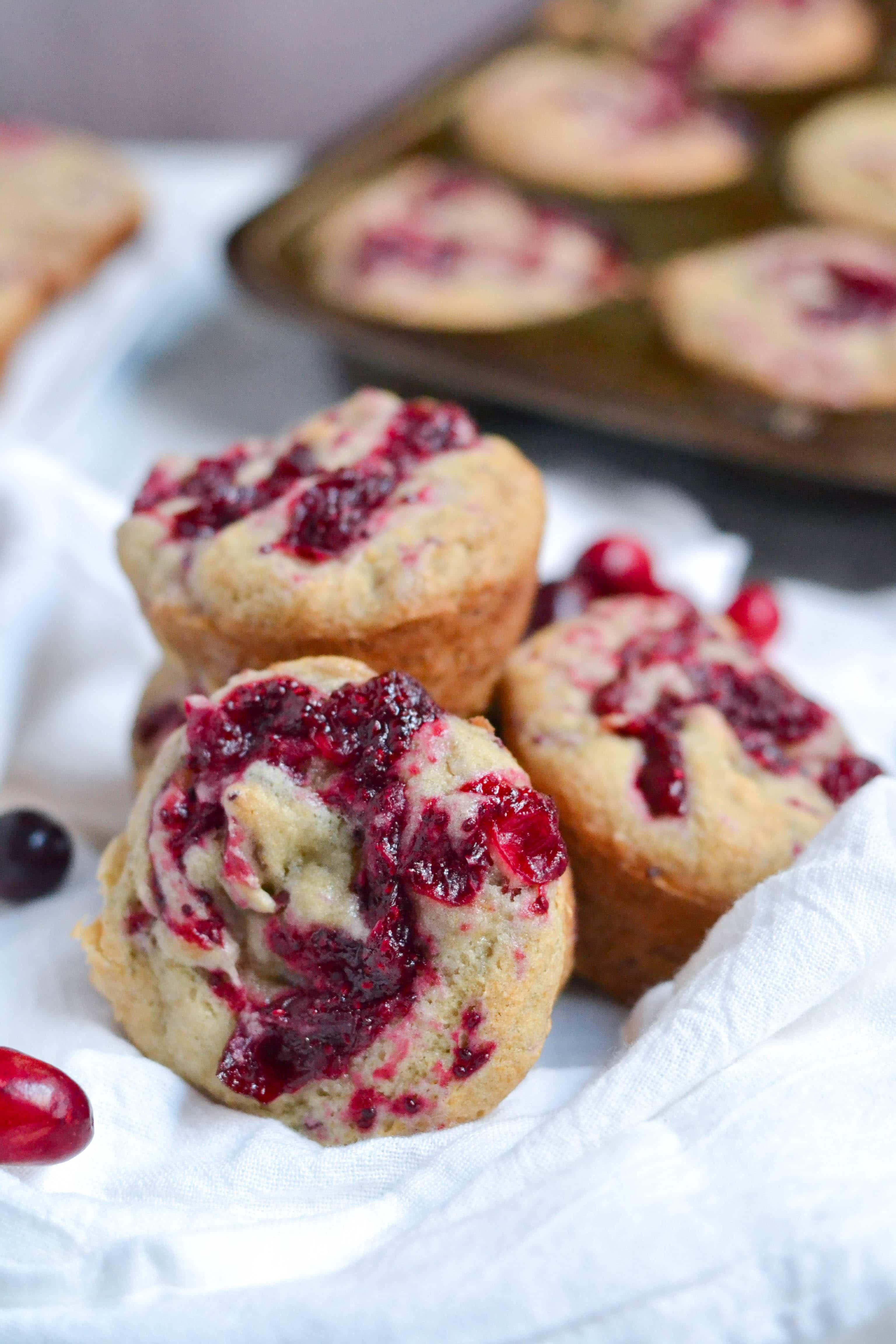 gluten free vegan banana cranberry jam muffins a dash of megnut. Black Bedroom Furniture Sets. Home Design Ideas