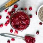 Cranberry Chia Jam (GF, DF, V) - A Dash of Megnut