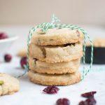 Gluten-Free Cranberry Pistachio Icebox Cookies (GF, DF, V) - A Dash of Megnut