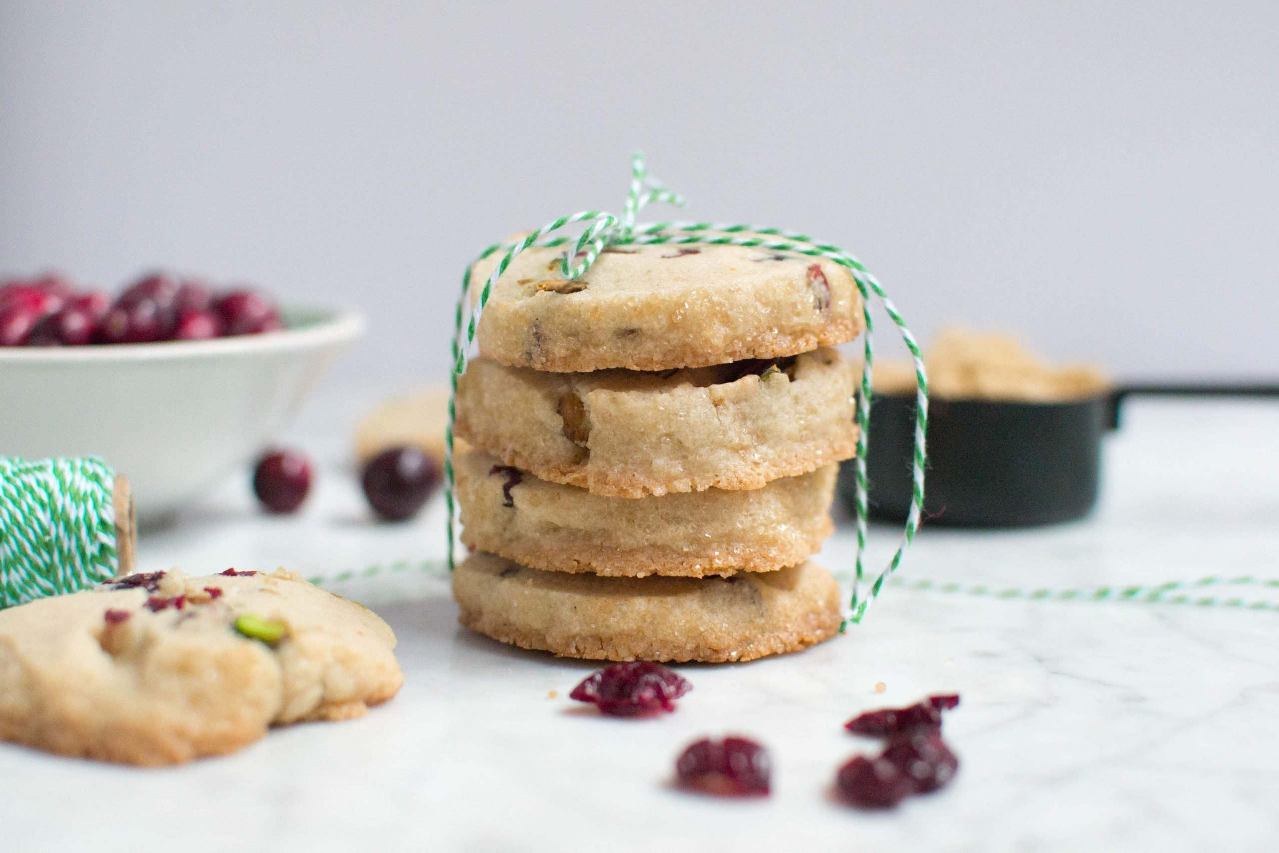 Gluten-Free Cranberry Pistachio Icebox Cookies (GF, DF, V) - A Dash of Megnut