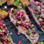 Pomegranate Salmon and Roasted Acorn Squash (GF, DF) - A Dash of Megnut