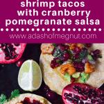 Shrimp Tacos with Cranberry Pomegranate Salsa (GF, DF) - A Dash of Megnut
