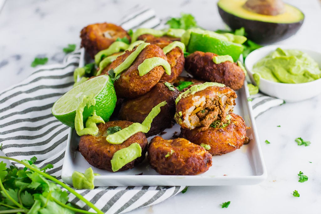 Fried Potato and Beef Taco Croquettes (GF, DF) - A Dash of Megnut