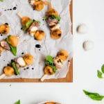 Prosciutto Melon Mozzarella Skewers - Gluten-Free
