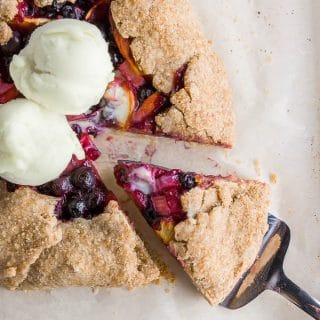 Rhubarb Blueberry Peach Galette – Gluten-Free and Vegan