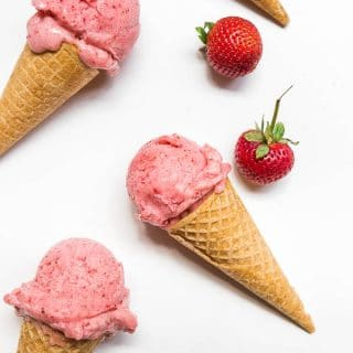 Strawberry Banana Nice Cream