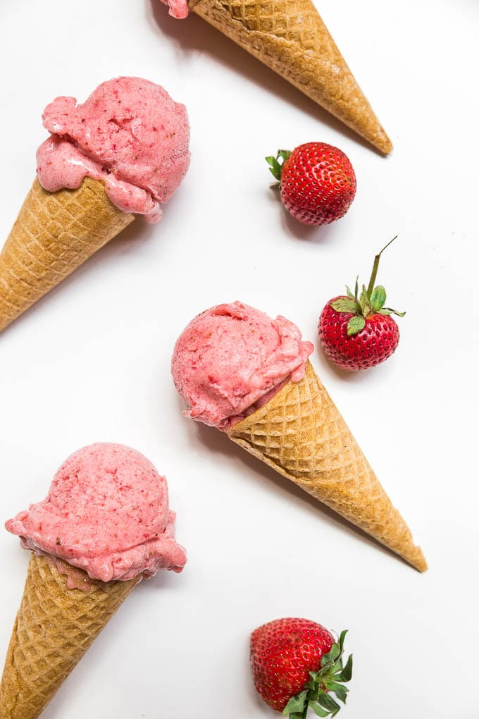 Strawberry Banana Nice Cream - dairy-free, vegan, gluten-free