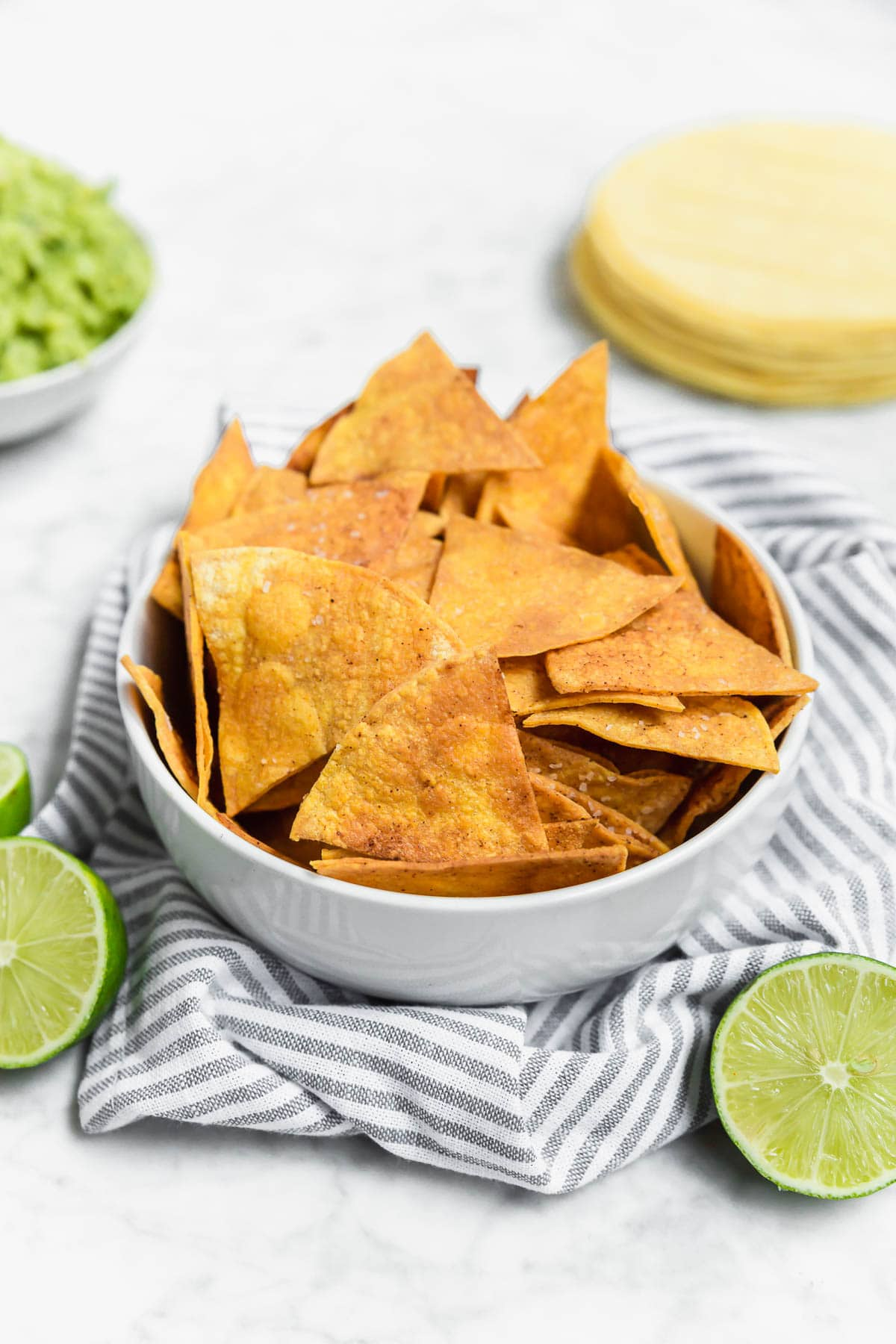 Baked Chili Lime Tortilla Chips - Gluten-Free, Dairy-Free, Vegan