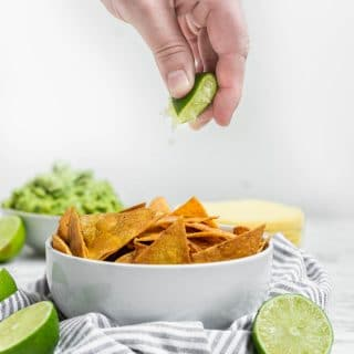 Gluten-Free Baked Chili Lime Tortilla Chips in the Oven