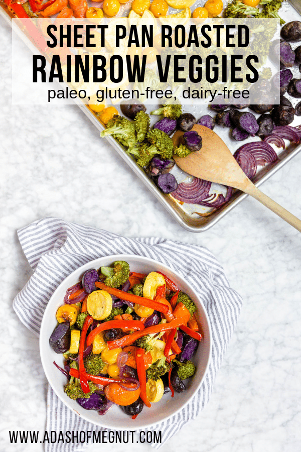 Sheet Pan Roasted Rainbow Vegetables - Meal Prep
