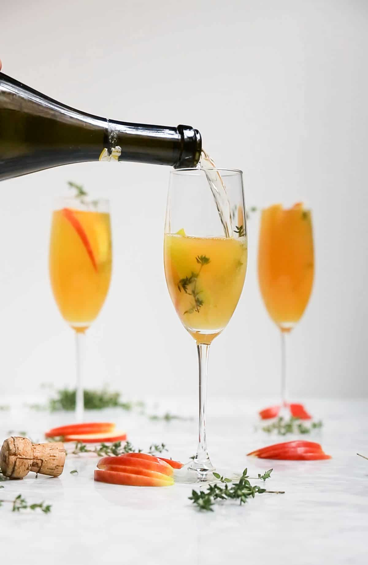 Gluten-Free Apple Cider Thyme Mimosa