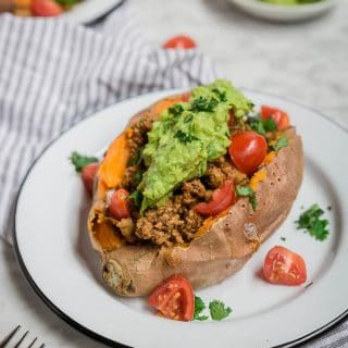 Whole30 Turkey Taco Stuffed Sweet Potatoes