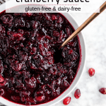 Red Wine Cranberry Sauce - Gluten-Free and Dairy-Free - A Dash of Megnut