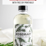 Rosemary Simple Syrup - with free printable label
