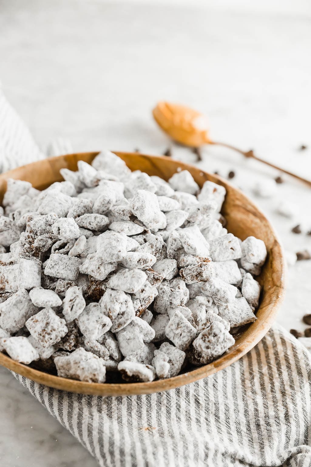 Dairy Free Puppy Chow Chocolate Peanut Butter Muddy Buddies